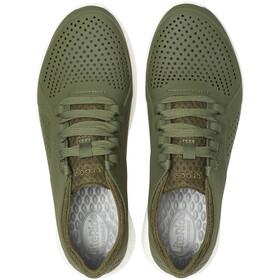 Crocs LiteRide Pacer Kengät Miehet, army green/white